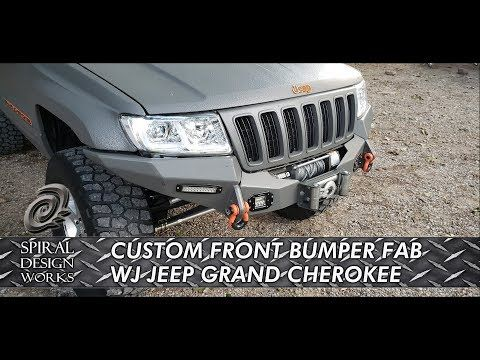 Wj Custom Front Bumper Design And Fabrication Youtube Coches