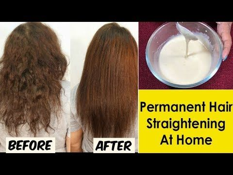 Permanent Hair Straightening At Home Re Bonding Style Straight Hair At Home Na Straighten Hair Without Heat Straightening Natural Hair Straightening Curly Hair