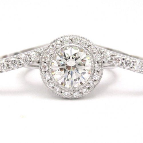 Bezel Set Engagement Rings Round 43