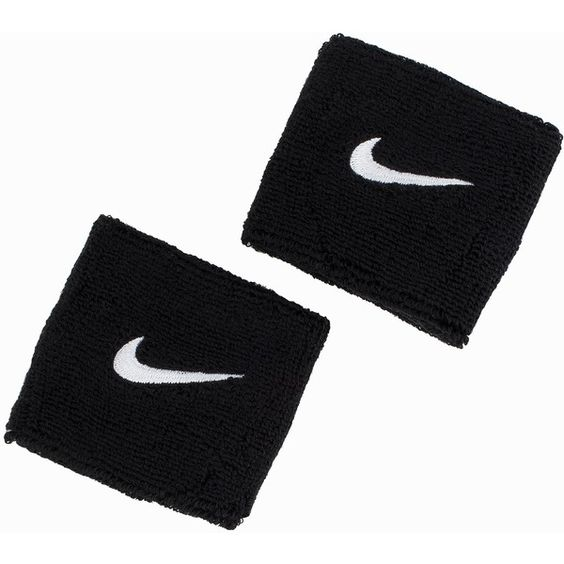 Nike Swoosh Wristband (47 BRL) ❤ liked on Polyvore featuring accessories, accessories sport, sports fashion, womens-fashion and nike