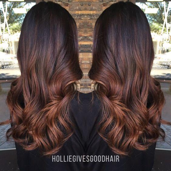 Mocha Caramel Balayage Ombr Hair