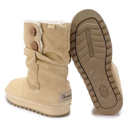 Buy Large Size 9 10 11 Beige Leather Goth Winter Snow Boots Women ...