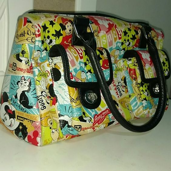 Disney purse Super cute, vintage style Disney purse. It is used, but still in good condition! Bottom corner has sign of wear, last picture shows. Bags