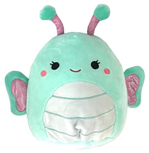 Squishmallows Green Butterfly Plush 8 Inch Squishmallows Animal Pillows Cute Stuffed Animals Pet Toys