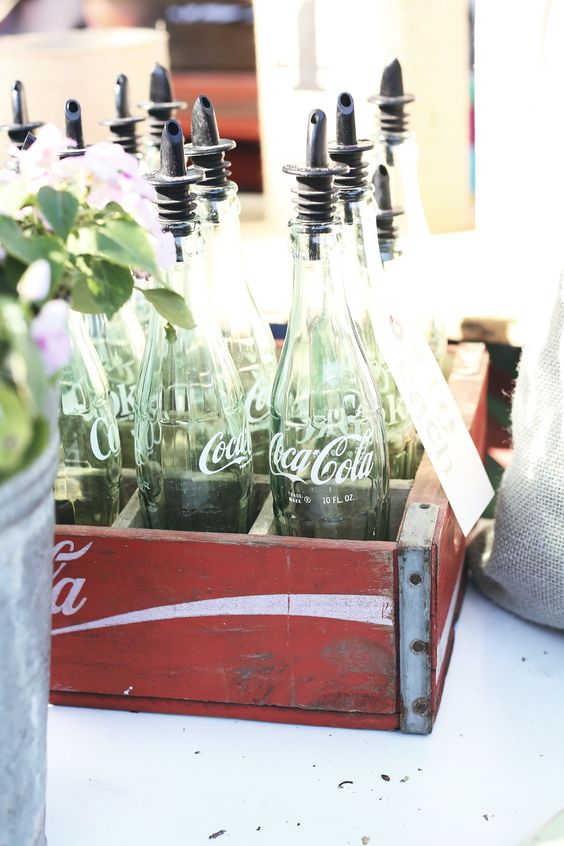 How smart is this? One clever vendor repurposed vintage Coca-Cola bottles as decanters. Want more? Join us at our upcoming 2015 Country Living Fairs in Columbus and Atlanta!