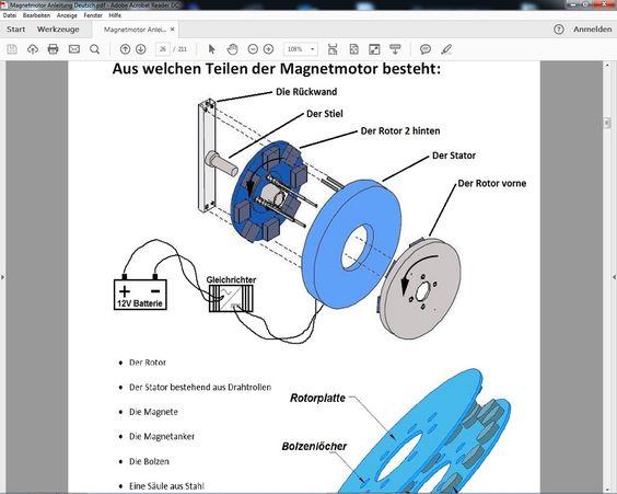 Detaillierte Zeichnungen und Bilder   http://www.magnet-motor4u.de
