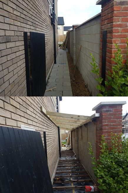 Lean To Shed Malahide Side Passage Sheds Mac Carpentry In 2020 Lean To Lean To Shed Shed Design