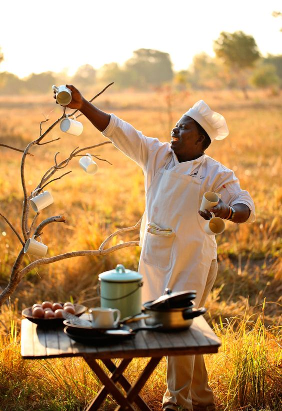 That is what we call happy cooking. Get your taste buds excited at Luwi Bush Lodge in South Luangwa National Park. YUM. Timbuktu Travel