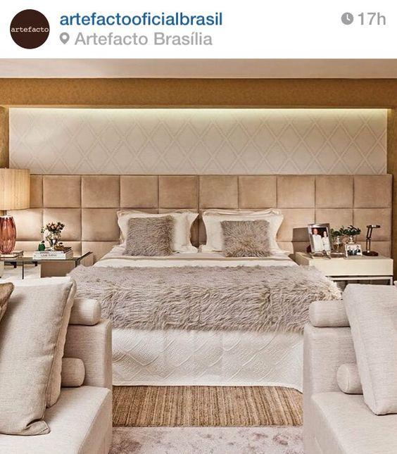Quarto de Casal com cores neutras! Fonte Instagram Artefacto:
