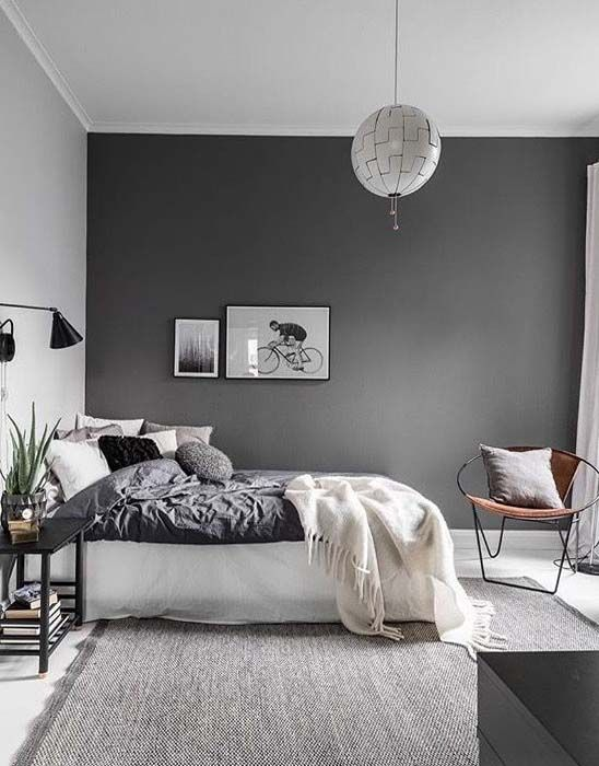 Gorgeous White And Grey Master Bedroom Ideas 2018