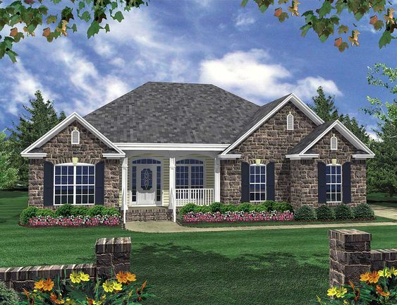Plan 5195mm Casual Living In 2021 Brick House Plans Brick Exterior House French Country House Plans