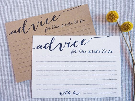 Bridal shower advice cards printable mini bridal for Bridal shower advice cards template