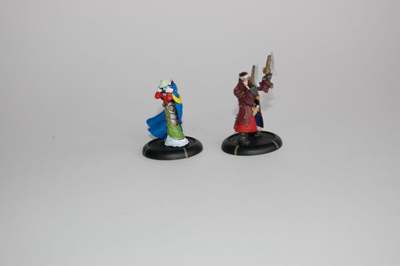 Warmachine - Mercenaries/Retribution - Lady Aiyana and Master Holt - painted by Patrick