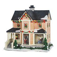 NEW! St. Nicholas Square Christmas Village DECORATING THE TREE /GRANDMA'S HOUSE