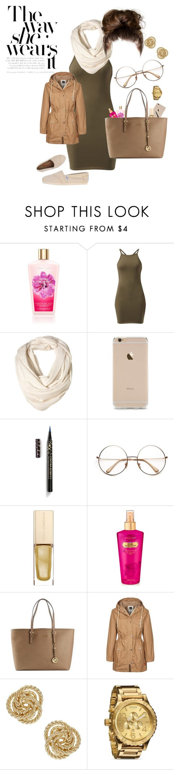 """Chill"" by trillestartist ❤ liked on Polyvore featuring Cynthia Rowley, Dolce&Gabbana, Victoria's Secret, Michael Kors, Ucon Acrobatics, Nixon and TOMS"