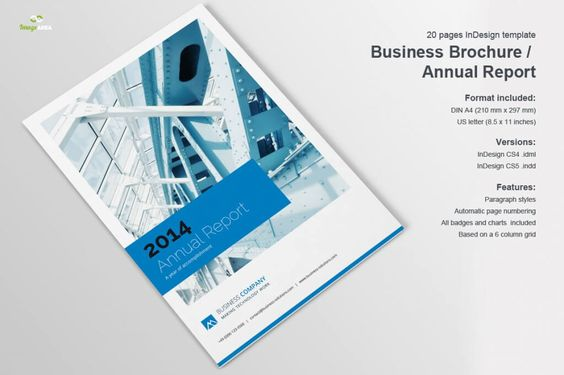 Annual Report InDesign Template by Creative Template on Creative - free annual report templates