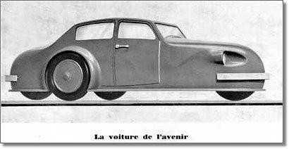 """Voisin """"voiture de l'avenir"""" 1934"""