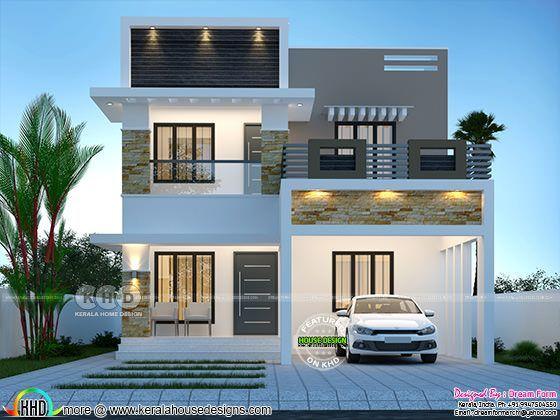 4 Bedroom 1750 Sq Ft Modern Home Design In 2020 Kerala House Design Bungalow House Design Duplex House Design