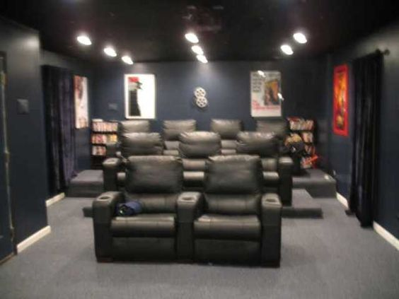 Home theater rooms theater rooms and home theaters on Home theater colors