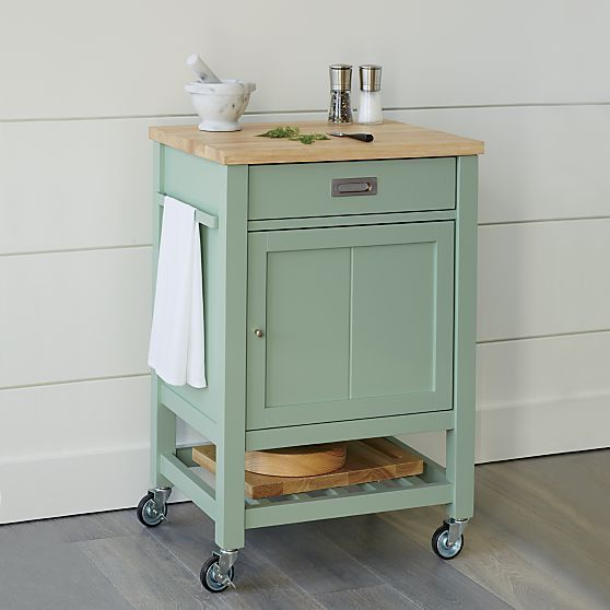 Mint Kitchen, Kitchen Carts And Crate And Barrel On Pinterest