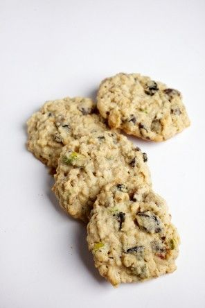 Pistachios and dried sour cherries dress up these oatmeal cookies, so ...