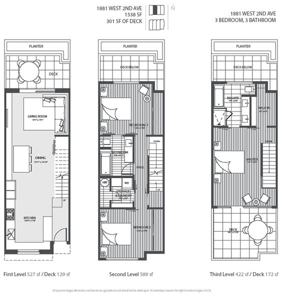 Townhouse Floor Plan 3 Car Garage Google Search: 3 Level Vancouver Luxury Home Floor Plan.