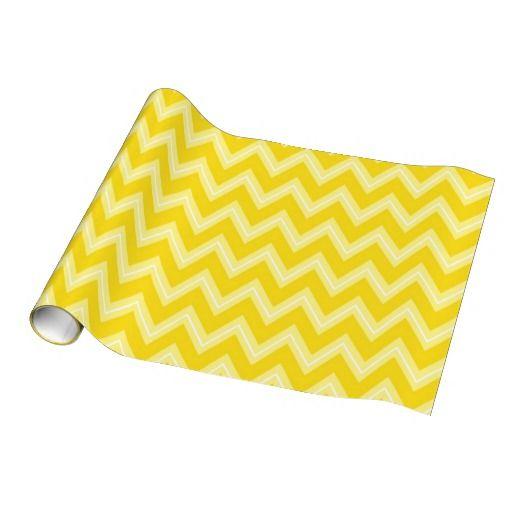 Yellows Chevron pattern wrapping paper