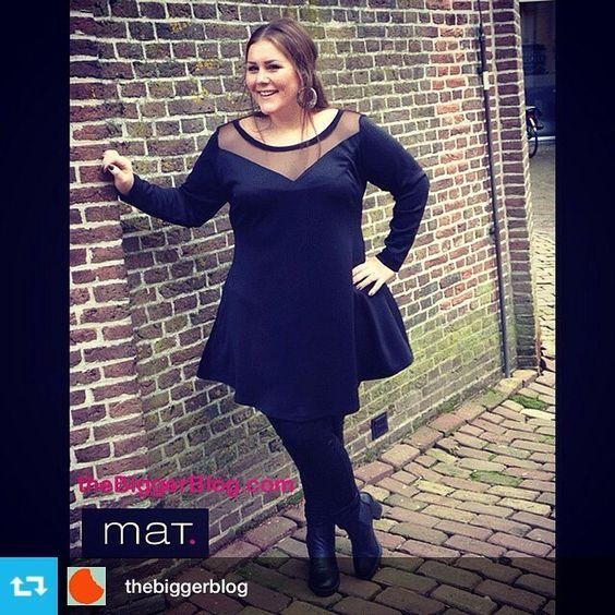 Thank you Josine! #Repost from @thebiggerblog • Love this sexy dress of @matfashion Details online  link in bio #theBiggerBlog #DressToImpress #ThinkBig #PSblogger #PSfashion #PlusSize #pluspoints #plussizetrends #curvetrends #curves #matfashion