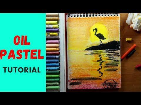 رسم منظر طبيعي سهل جدا وجميل في 12 دقيقة Youtube Oil Pastel Painting Pastel