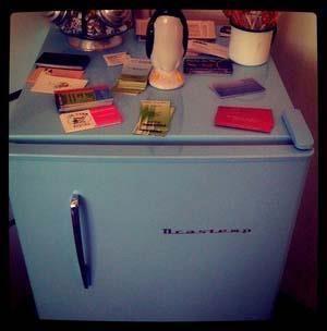 Mini geladeira do salão Peluqueria, contribuição de Vanessa Aguiar :)