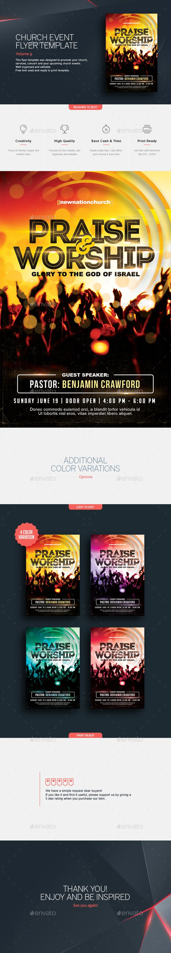 praise and worship v 2 church flyer flyer template church and buy praise and worship church flyer by teestrim on graphicriver church flyer template this flyer template was designed to promote your church