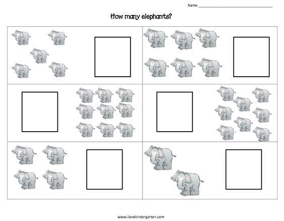 elmer counting elephants freebie from ilovekindergarten. Black Bedroom Furniture Sets. Home Design Ideas