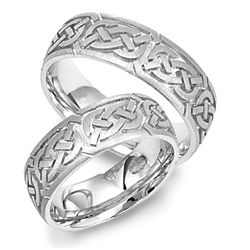 Celtic Heart Knot Wedding Band In 14k Gold Comfort Fit Ring 7mm This Showcases Intricate Design A