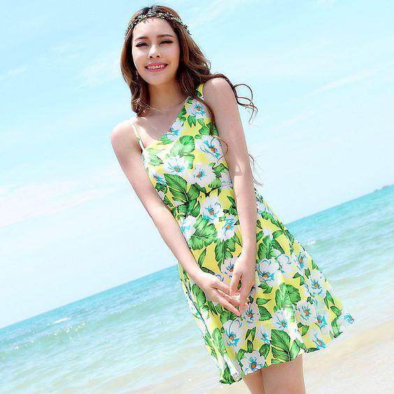 Women Summer Dress High Waist Sleeveless Long Bohemian Beach Dresses