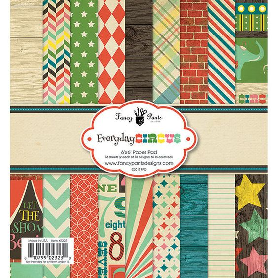 Fancy Pants Designs - Everyday Circus Collection - 6 x 6 Paper Pad at Scrapbook.com