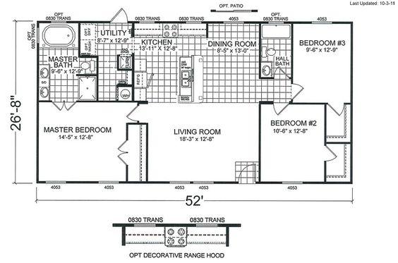 4 bedroom double wide mobile home floor plans http for Double wide 4 bedroom floor plans