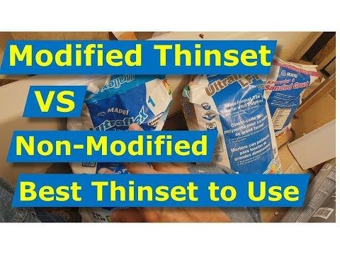 Modified Thinset Vs Unmodified
