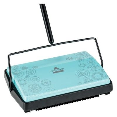 Bissell Pirouette Refresh Carpet And Floor Manual Sweeper Blue