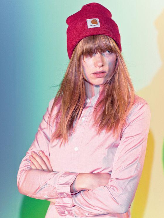 Acrylic Watch Hat, W' L/S Brace Shirt