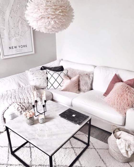28 Cozy Living Room Decor Ideas To Copy Pink Living Room Pink