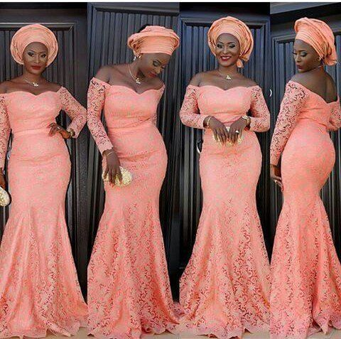 Most recent cord lace styles in Nigeria 2018
