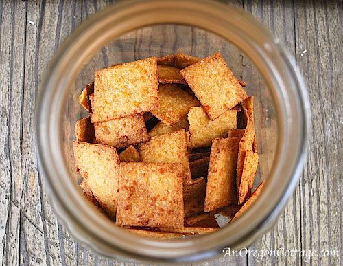 Whole Wheat Sriracha-Cheese Crackers