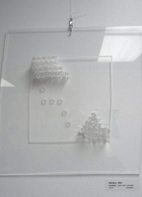 Renato Milo 'Untitled' clear with cylinders, 2010, MADI Art Museum and Gallery, Dallas