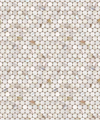 Shell Tile Circle Pattern Vinyl Contact Paper Self Adhesive Peel Stick Wallpaper Patterned Vinyl Wall Stickers Circles Shell Tiles
