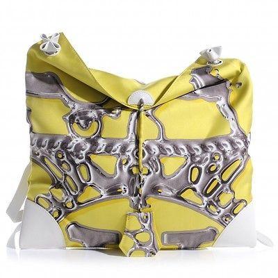 HERMES Silk Vif Argent Silky City 33 Shoulder Bag Purse Handbag ...