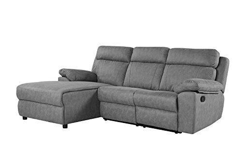 Classic Traditional Small Space Reclining Sectional Sofa L Shape