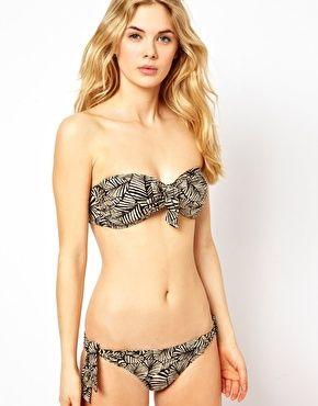 Enlarge Seafolly Neo Tribe Tie Front Bandeau Bikini Top