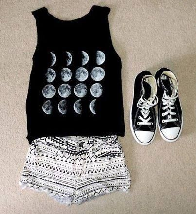 Cute black and white outfit:
