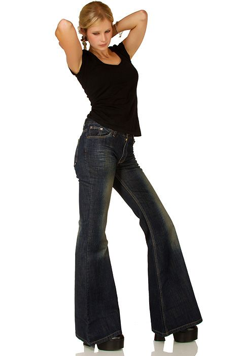 Hip flared jeans Star Blazed dark dirty denim
