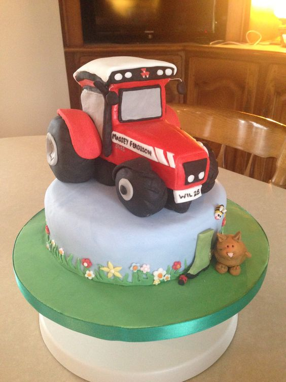 Tractor Cake Decorations Uk : Massey Ferguson Massey Tractors and Combines Pinterest ...